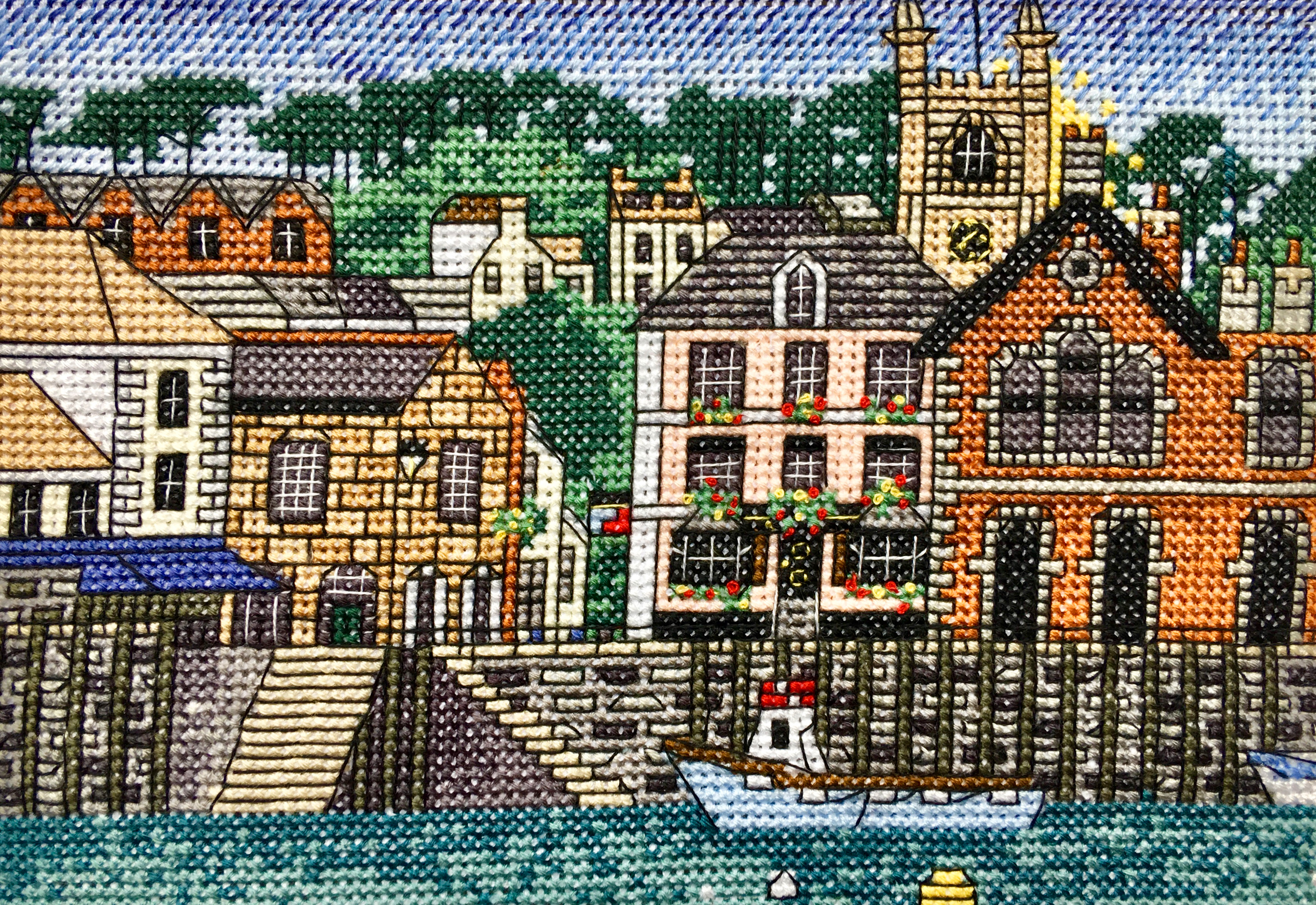 Fowey Harbour Cross Stitch Kit