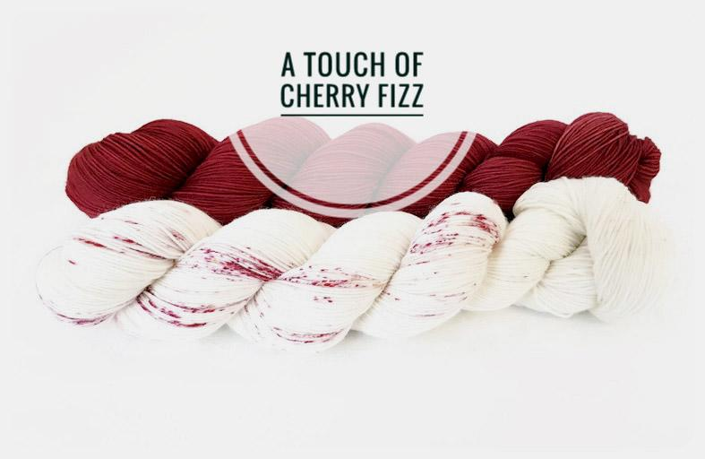 A Touch Of Cherry Fizz Hand Dyed Yarn