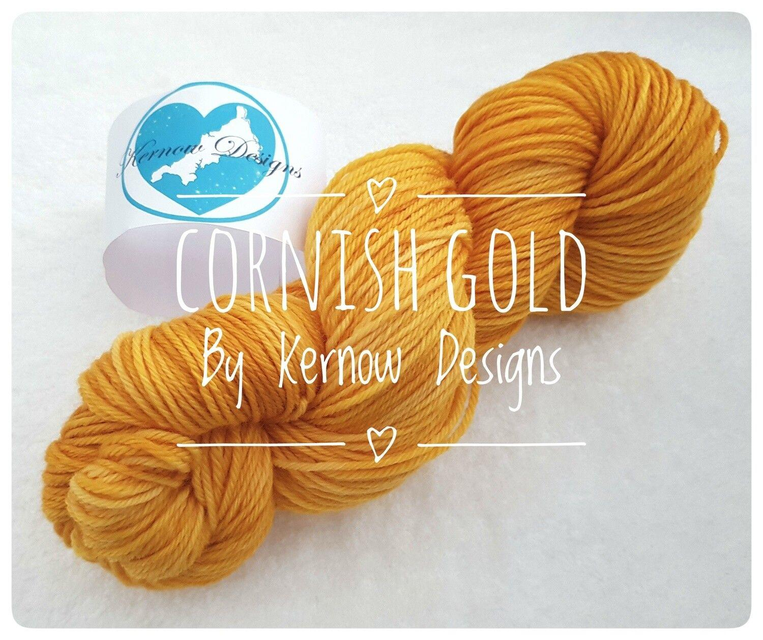 Cornish Gold Hand Dyed Yarn