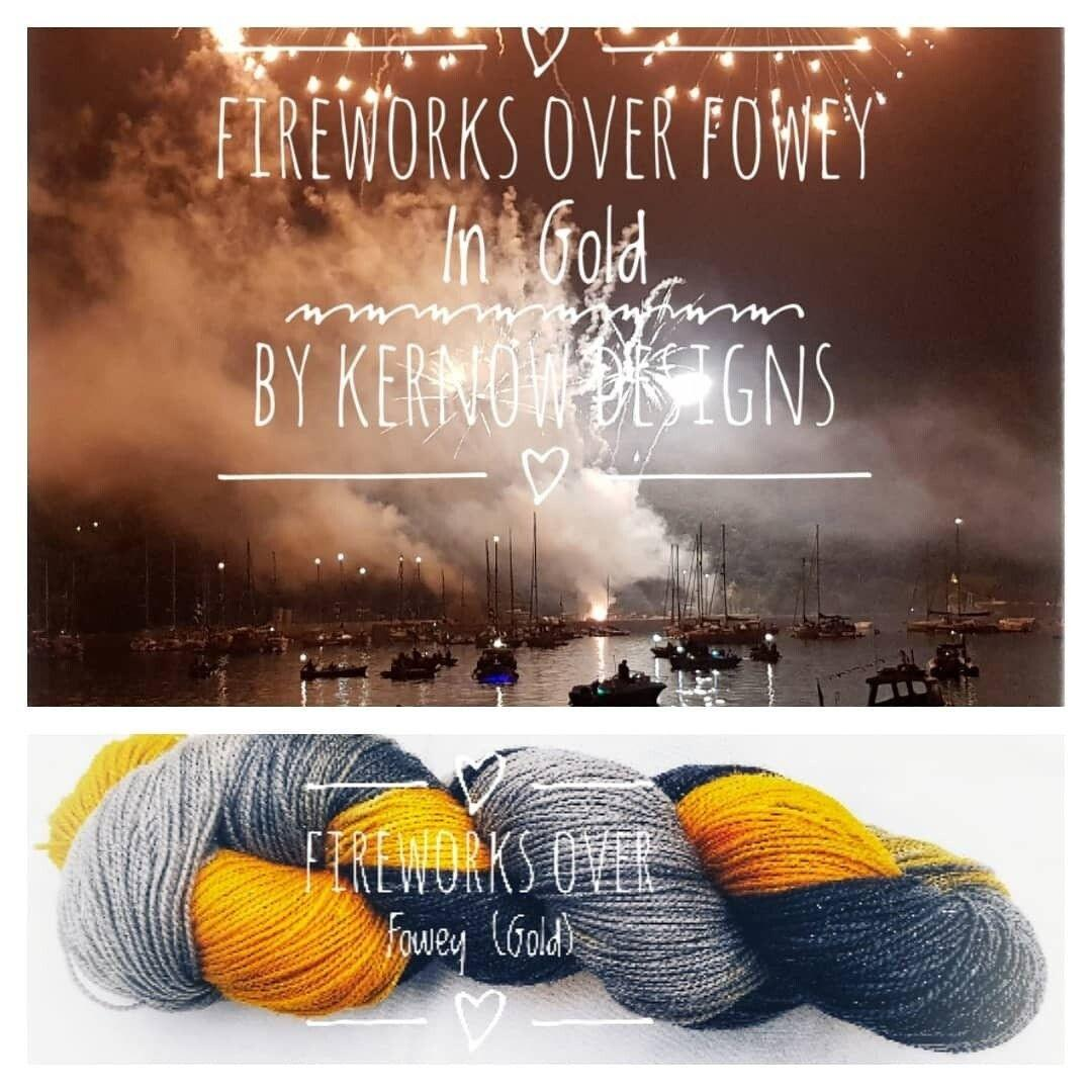 Fireworks Over Fowey In Gold Hand Painted Yarn