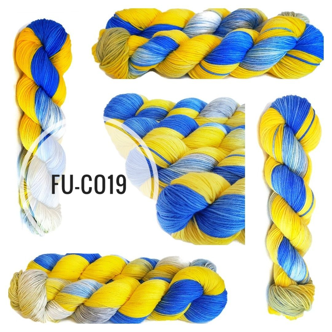 FU-CO19  Hand Dyed Yarn - (Fundraiser Yarn.)