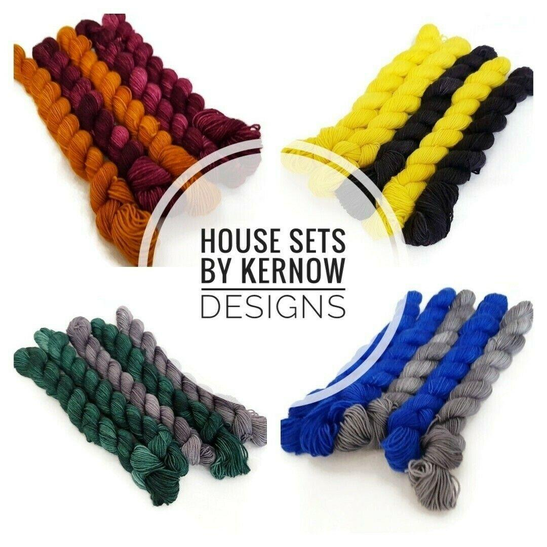 Harry Potter House Sets 100g Hand Dyed Yarn