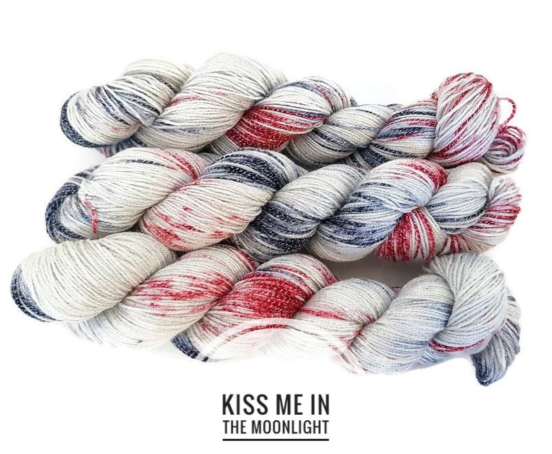 Kiss Me In The Moonlight Hand Dyed Yarn
