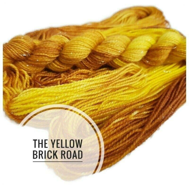 The Yellow Brick Road Hand Dyed Yarn