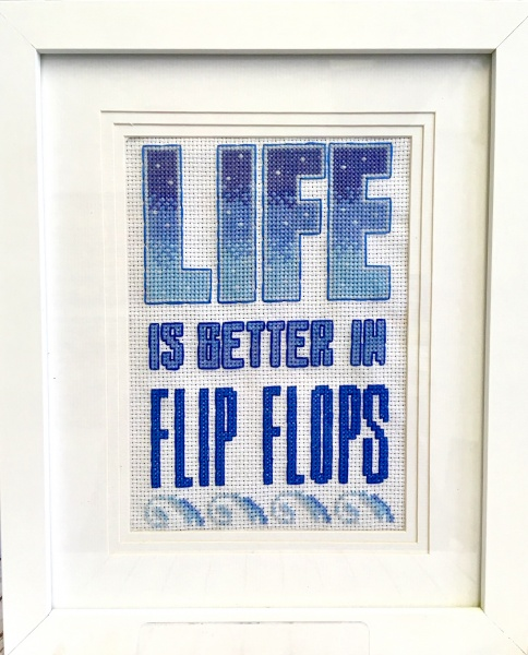 Life Is Better In Flip Flops Cross Stitch Kit