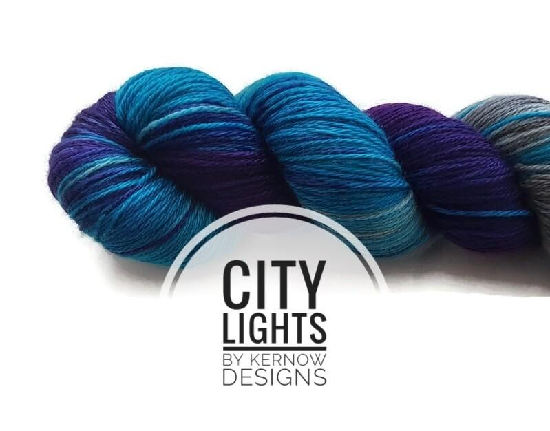 City Lights Hand Dyed Yarn