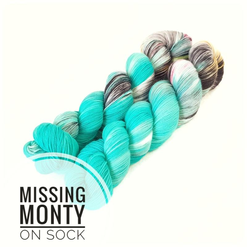 Missing Monty  Hand Dyed Yarn