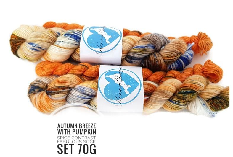 Autumn Breeze  Hand Dyed Yarn