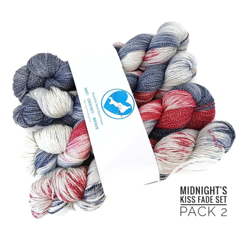 Midnight's Kiss Hand Dyed Yarn